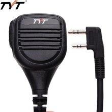 TYT MD 380 2 broches PTT à distance étanche à la pluie épaule haut parleur micro pour TYT MD 380 MD 390 TH UV8000D/E talkie walkie MD 380G Radio de jambon