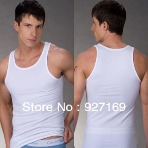 40d7b531001984 men s cotton undershirt A-Shirt Wife Beater Ribbed Tank Top Undershirt Vest  M L XL XXL