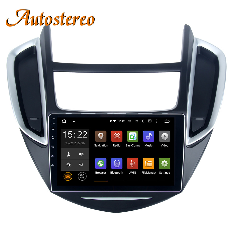 Android 9 Car No DVD Player For Chevrolet Trax Chevrolet tracker 2013 stereo headunit GPS navigation