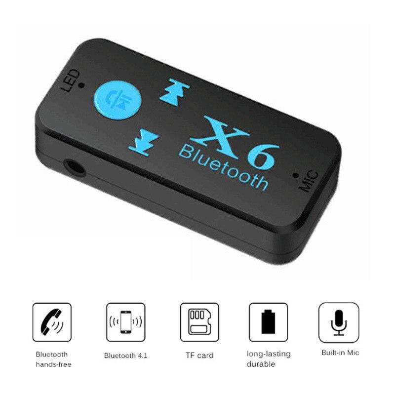 Gerade Drahtlose Auto Audio Stereo 3,0 Bluetooth Empfänger Mit Mikrofon Aux 3,5mm Freihändiger Bluetooth Adapter Unterhaltungselektronik