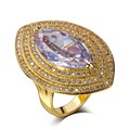Trending Styles New designs for Ladies Horse eye shape Wedding rings gold plated