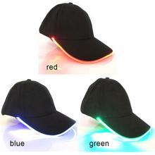 9cd08b1ad 2018 تصميم جديد أدى الإضاءة قبعة حزب الديكور البيسبول الهيب هوب ضوء قبعات  قابل للتعديل النسيج قبعة الوهج كاب
