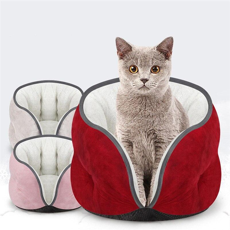 Pet Product Warm Cat Bed Rest Dog Pet Kitten Cat Bed Cushion Mat Super Soft Warm Kennel Dog Puppy House Sleep Mat Bed N08#N