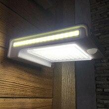 72LED 34COB impermeable 500Lm lámpara con sensor de movimiento luz de seguridad de jardín