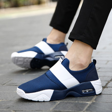 2019 new mens shoes mesh breathable cushion running womens casual sports thick bottom