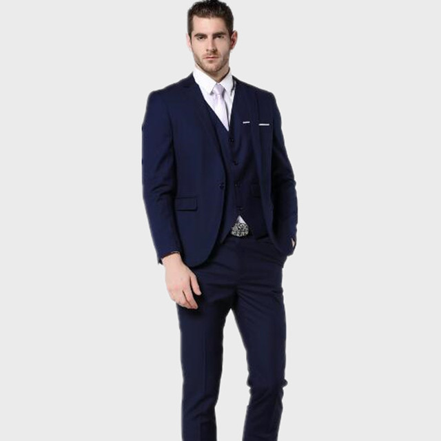 Latest design men suits Slim Fit Men stylish Navy Bue Men Wedding ...