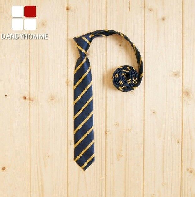 DANDY HOMME High Quality 2015 Men Deep Blue Striped Summer Korean Style Man Suits Accessories Neck Ties Wedding Groom Business
