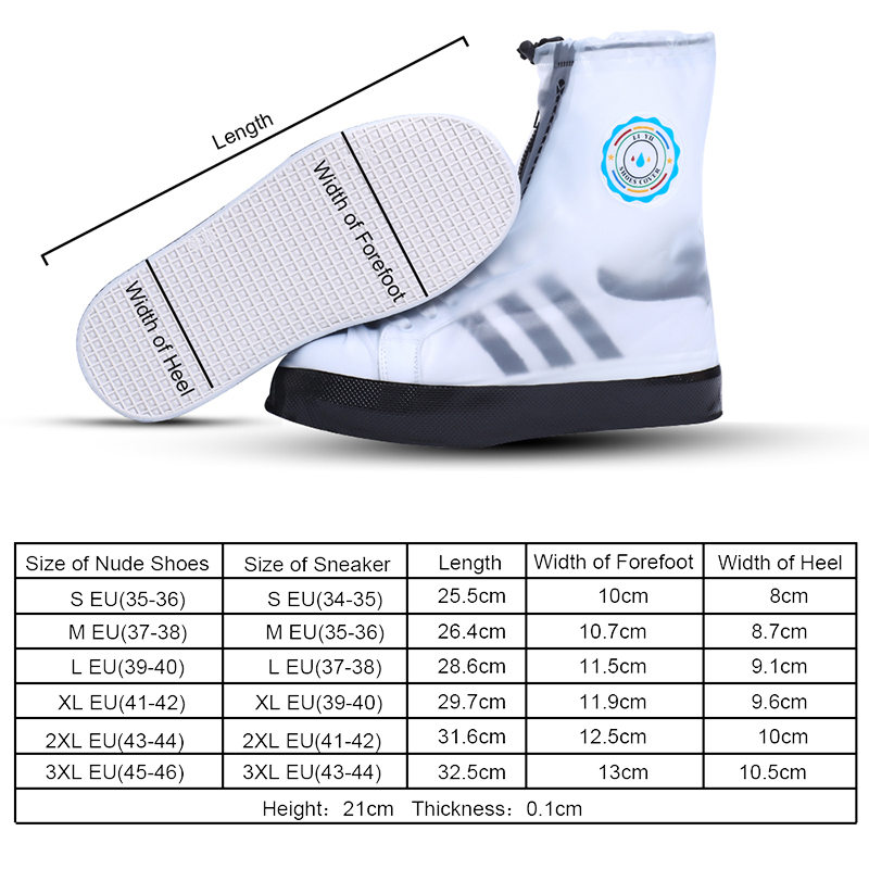 HTB15r5ZqwMPMeJjy1Xbq6AwxVXaT Soumit PVC Fashion Waterproof Rain Shoe Cover for Men Women Shoes Protector Reusable Boot Covers Overshoes Boots Accessories