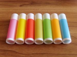Image 2 - O Envio gratuito de 100 pçs/lote 5g Vazio Doce Cor Tubos LIP BALM Recipiente do Batom Garrafa Para DIY Lábio de Plástico de Embalagens de Cosméticos