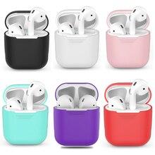 Darbeye dayanıklı airpods için kılıf kulaklık kutusu TPU silikon Bluetooth kablosuz kulaklık koruyucu kapak için apple airpods kılıf kapak