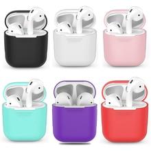 Schokbestendig Voor airpods Case Oortelefoon TPU Siliconen Bluetooth Draadloze Hoofdtelefoon Protector Cover Voor apple airpods Case Cover