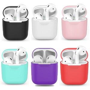 Image 1 - Schokbestendig Voor airpods Case Oortelefoon TPU Siliconen Bluetooth Draadloze Hoofdtelefoon Protector Cover Voor apple airpods Case Cover