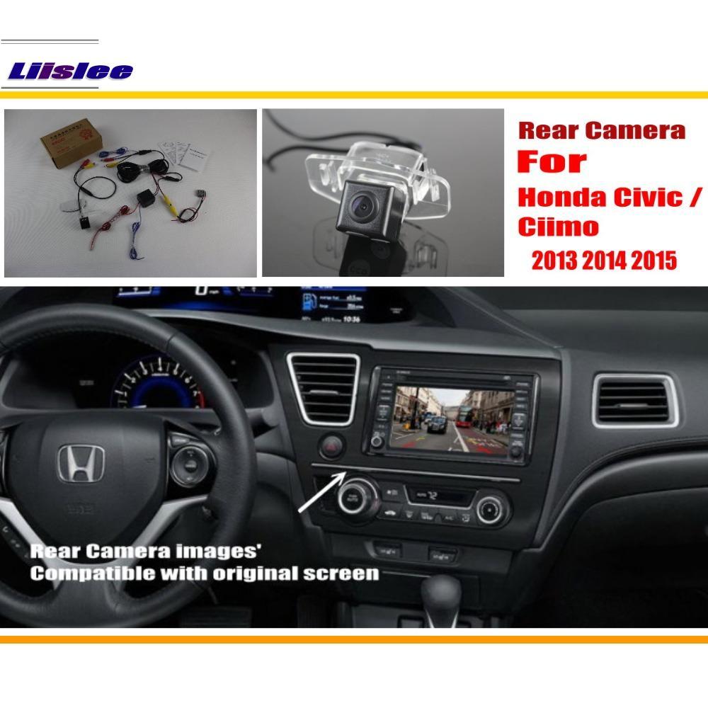Liislee Para Honda Civic/Ciimo nona Geração 2011 ~ 2015 Original tela Compatível/Câmera Traseira Do Carro/Câmera Traseira Reversa conjuntos