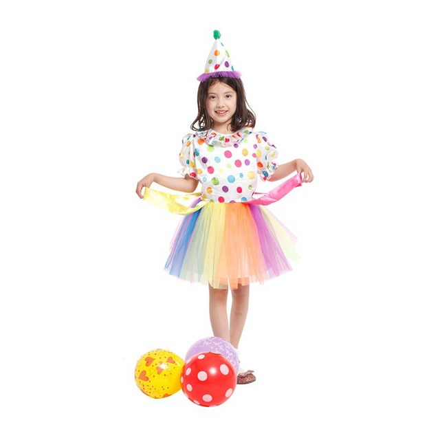 Fanshion Girls Clown Costume Droll Cosplay Children Christmas Gift Stage performance dress Anime Masquerade Party costume  sc 1 st  AliExpress.com & Fanshion Girls Clown Costume Droll Cosplay Children Christmas Gift ...