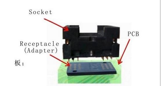 Купить с кэшбэком TSOP48 Standard Burn in Socket Pitch 0.5mm IC Test Socket IC Size 12x18.4mm IC354-048-D31/35P Programmer Adapter