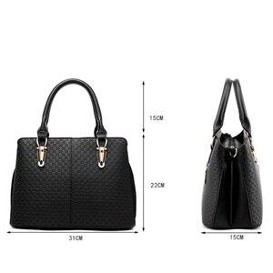 Image 5 - Bolso de mano de estilo mensajero para mujer, cartera de mano femenina de estilo casual, con diseño de retales, a la moda