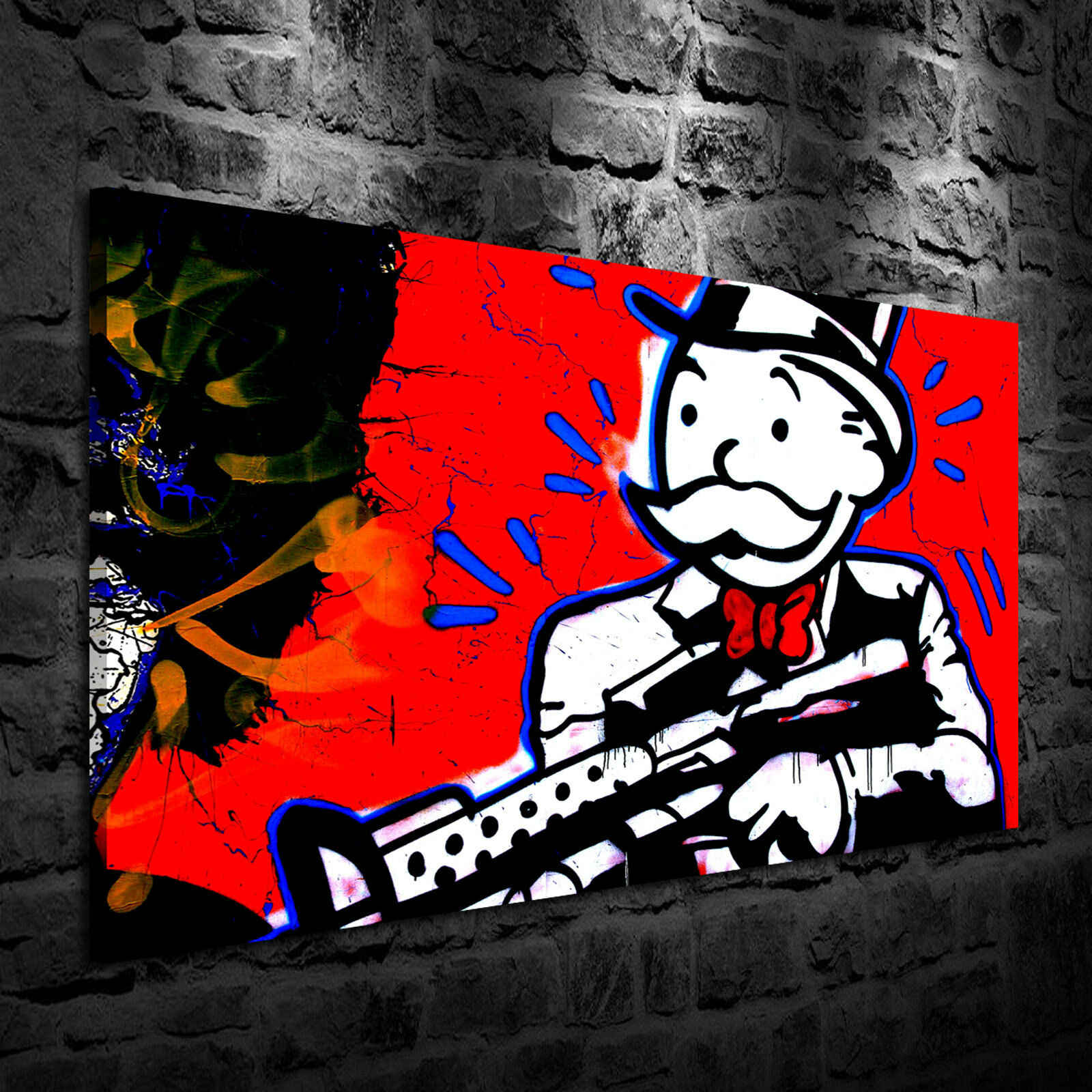Alec Monopolys Gun Abstract Wall Art Oil Painting Poster Canvas Painting Print Pictures for Living Room Home Decor 5