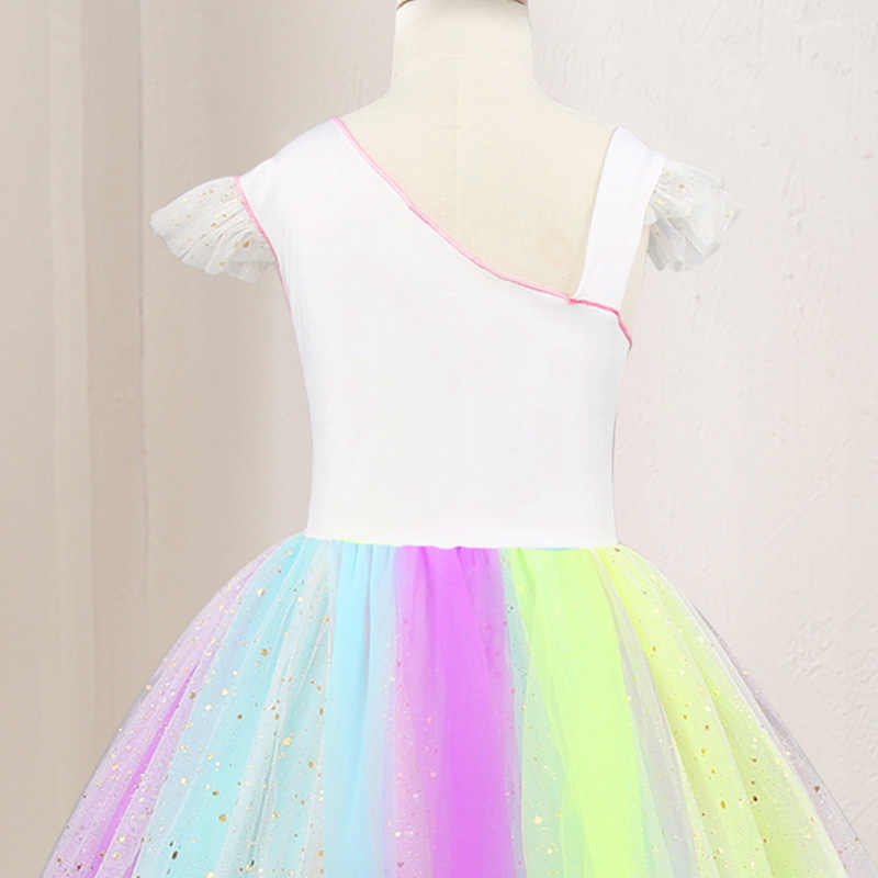 40b25285e77 ... 2019 Summer Baby Girls Designed Unicorn Tutu Dress Fairy Rainbow  Princess Tulle Dress Children Birthday Party ...