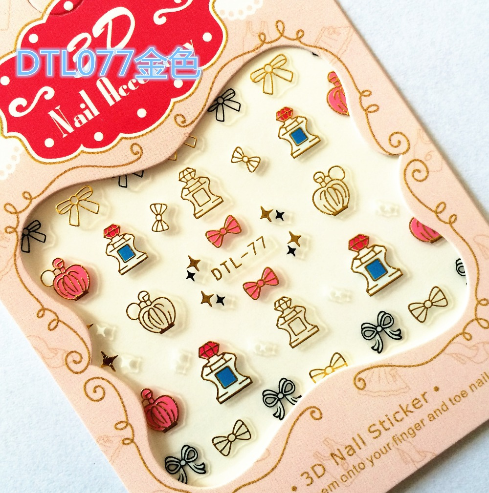 Stickers decals nail stickers nail art decals fashion - Aliexpress Com Buy Mix Order 0 7 2016 Fashion 1sheet Gold 3d Design Tips Nail Art Watermark Nails Stickers Decals Diy Nail Decorations Dtl75 83 From