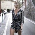 Fashion 2016 Sexy Women Straps Print Jumpsuits Casual Vintage Short Rompers Women Jumpsuit Summer Bodysuit Playsuit Plus Size 41