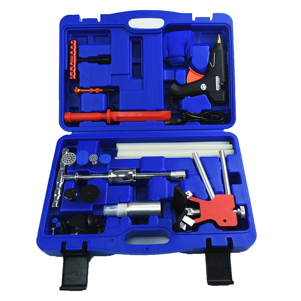 Furuix pdr outils outils à main professionnels complet voiture sans peinture outil de réparation de Dent ensemble extracteur de Dent pistolet à colle toboggan marteau