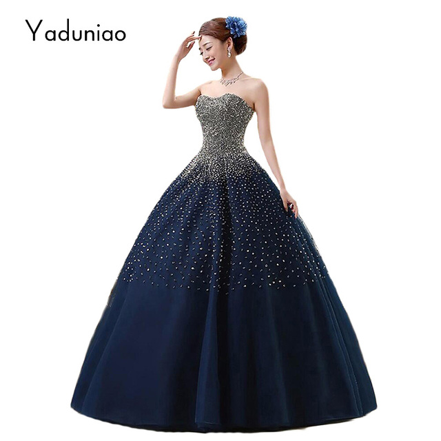 Us 29999 Vestido Debutante Hoàng Gia Sang Trọng Xanh Quinceañera Dresses Bóng Gowns Sweet 16 Dresses Masquerade Bóng Gowns Vestidos De 15 Anos