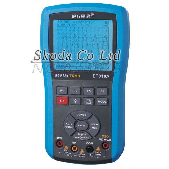 Big Sale Free shipping Ivan ET310A 10M 50Msps Digital Handheld Storage Oscilloscope ScopeMeter TRMS multimeter Automatic measurements