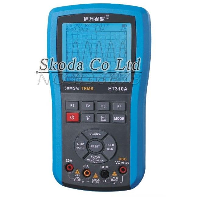 Free shipping Ivan ET310A 10M 50Msps Digital Handheld Storage Oscilloscope ScopeMeter TRMS multimeter Automatic measurements