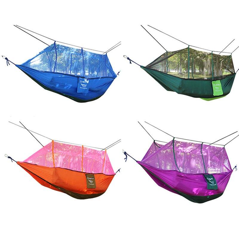 Double Parachute Mosquito Net Hammock Chair Tourism Hamaca ...