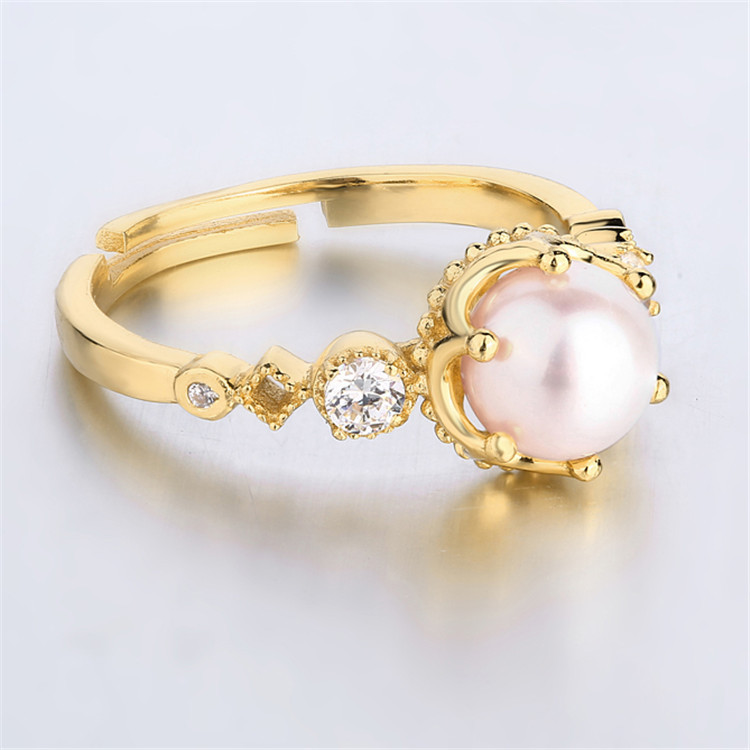 ring, 925 silver ring Europe and the United States big wind Pearl ring Japanese collocation autumn winter collectionring, 925 silver ring Europe and the United States big wind Pearl ring Japanese collocation autumn winter collection
