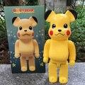 Pokemon Pikachu de la alta Calidad 11 inch 400% bearbrick be @ rbrick medicom réplica de juguete con la caja al por menor
