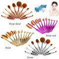 New 10pcs Tooth  brush Oval Makeup Brushes Set Pincel maquiagem Contour Blusher Powder Foundation Lip Brush cosmetic tool Kits