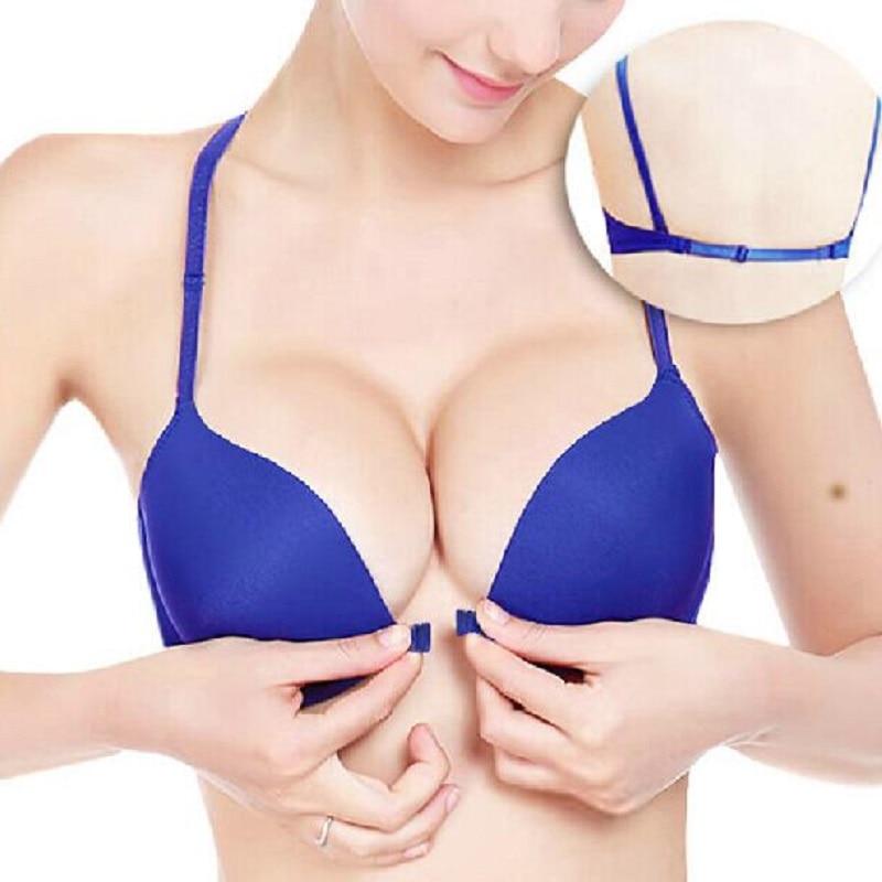 Modni Push Up modrček pod prilagodljivo zaponko Zberite Candy Barva gladko spodnje perilo za ženske Bralette Sutian modis spodnje perilo dama