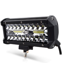 цена на Safego 1x 7inch 120w LED work light bar spot beam car Driving lights for OffRoad truck 4WD 4x4 UAZ 12V 24V auto fog lamp 6000k