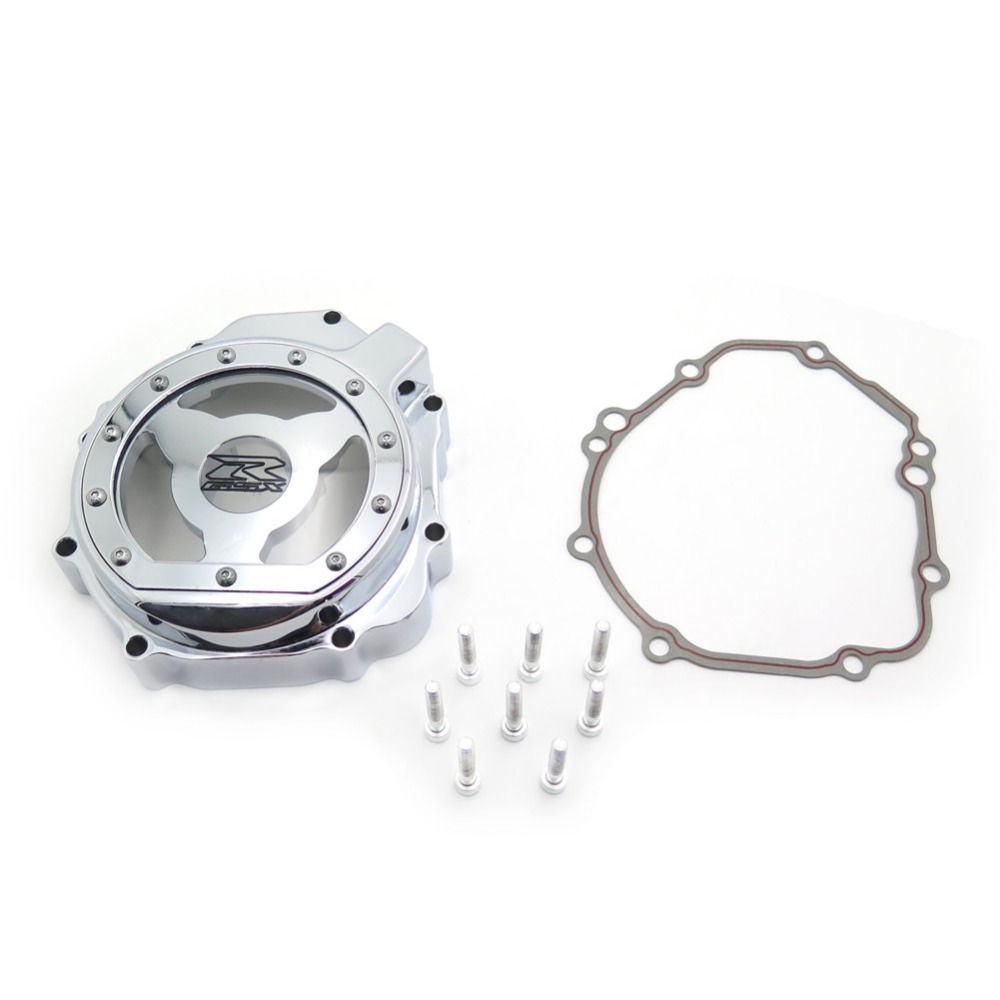 Aftermarket free shipping motorcycle accessories Engine Stator cover see through for Suzuki 2005 2006 2007 2008 GSXR 1000 CHROME aftermarket free shipping motorcycle parts engine stator cover for suzuki hayabusa gsx 1300r 1999 2015 left side chrome