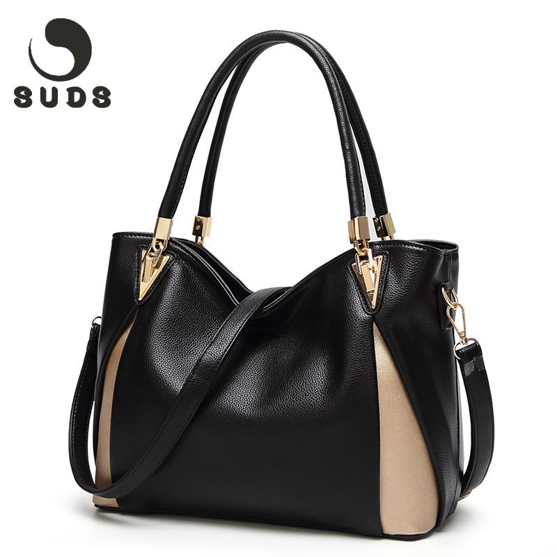 SUDS Luxury Women Handbags Crossbody Designer Big Ladies Hand Bags Female Soft Leather Shoulder Bags For Women 2018 Sac A Main kzni genuine leather designer crossbody shoulder clutch women bags female luxury handbags women bags designer sac a main 9003