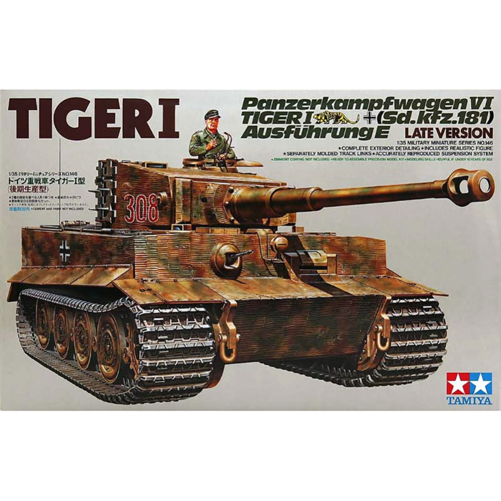 OHS Tamiya 35146 1/35 Tiger 1 Panzer Kampfwagen VI Sd Kfz181 Ausfuhrung E Late Version Assembly AFV Model Building Kits oh cambridge english ielts 8 examination papers from university of cambridge esol examinations with answers