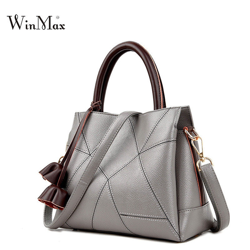 Winmax qualityed new leather handbag large bag female fashion mom classic large