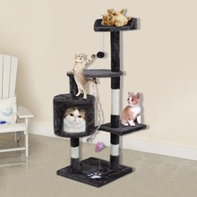 Newest Large Climbing Frame Cat'S Tree 112 cm Height Speed Pets Animals Scratching Posts Wonderful Toys House Furniture