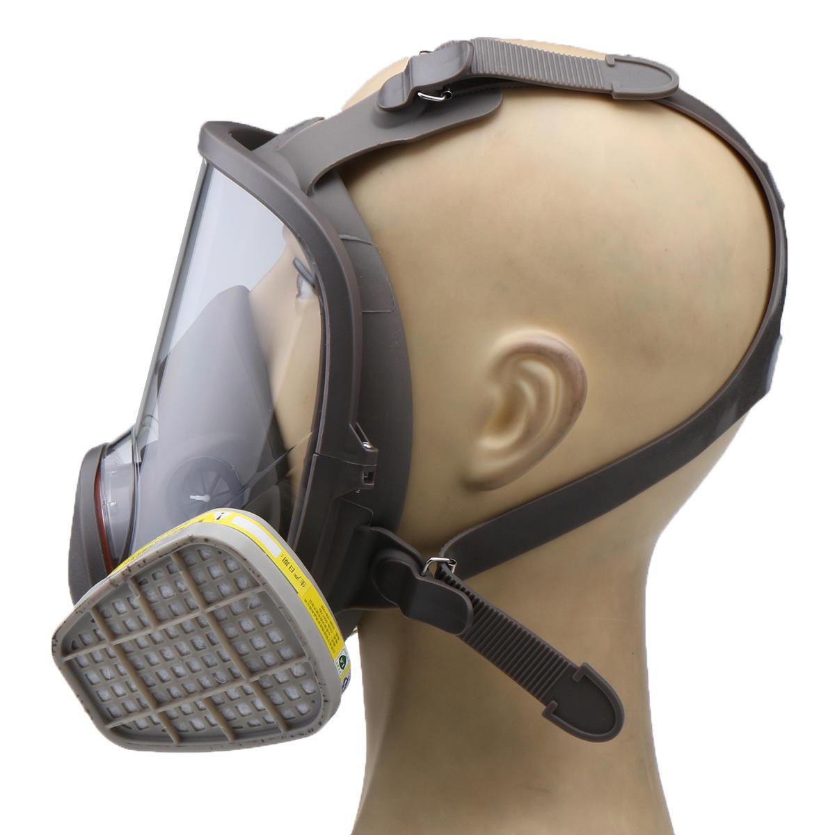 3 en 1 costume peinture pulvérisation similaire pour Silicone visage complet masque respiratoire réutilisable 6800 gaz masque de protection - 3