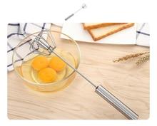 Egg beater mini semi - automatic hand - held whisk stainless steel egg beater