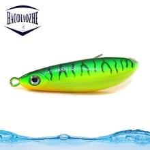 Купить с кэшбэком HAODIAOZHE Minnow Spoon Baits Freshwater Quality Saltwater Crankbait Hard Bait 8.5cm 19.5g VIB Wobblers Metal Fishing Lure YU409