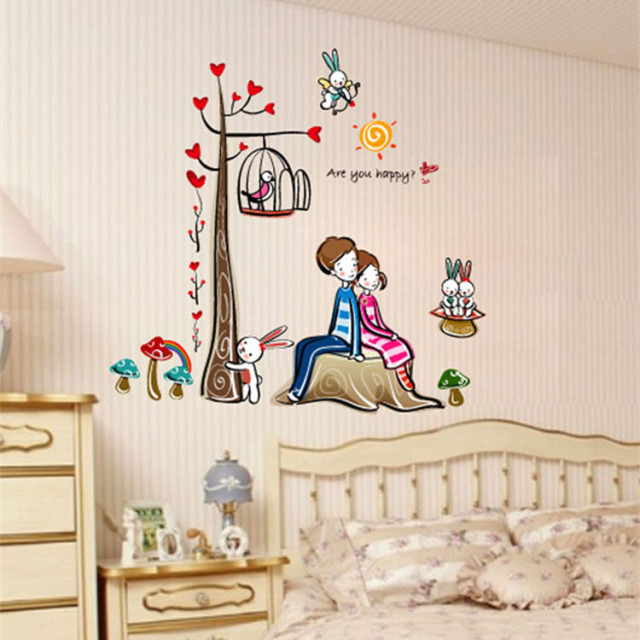 Kids room wall stickers for Home decor 2 love