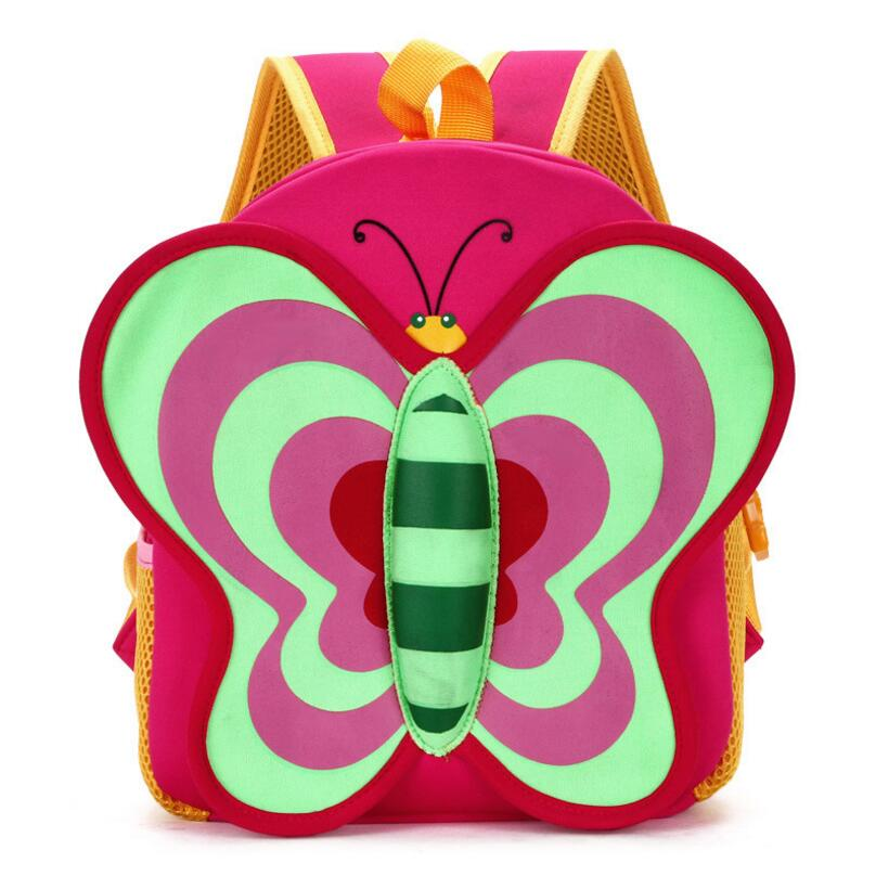 Butterfly Waterproof Children School Bags Cartoon Animals School Backpacks For Teenage Girls Large Capacity Baby Backpack