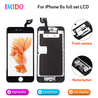AAA+++ Quality Full Set LCD Display For iPhone 6s LCD Display Home button+Front camera with 3D Touch Screen Digitizer Assembly