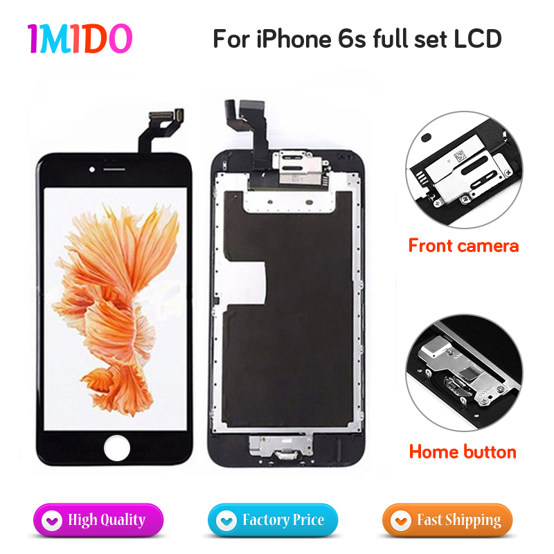 Full Set Screen Pantalla For iPhone 6s LCD Display Home Button+Front Camera+Speaker 3D Touch Digitizer Assembly AAA+++Quality