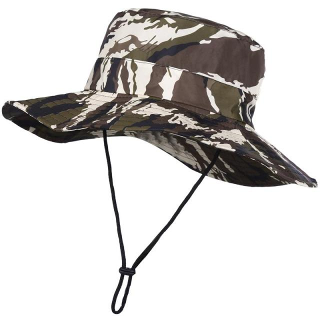 aff0ae95e0e Vbiger Men Women Fishing Hat Floppy Bucket Hat Outdoor Fishing Cap Sun  Protection Cap with Camouflage