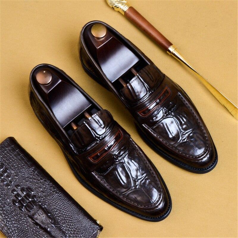 Phenkang رجل الرسمي الأحذية جلد طبيعي أكسفورد أحذية للرجال الأسود 2019 اللباس أحذية الزفاف أحذية slipon الجلود تصليحه-في أحذية رسمية من أحذية على  مجموعة 1