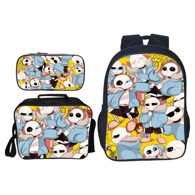 New Girls//Boys Cartoon Undertale Printing Backpack Children Backpack Schoolbag