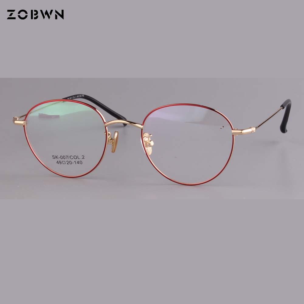 Runde Frauen Marke Mode Aus Männer Großhandel Klare Herstellung Rahmen Gläser Linse Optische 08xTzB